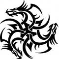 SAMOLEPÍCÍ DEKORY draci tetování 33,5x33,5cm 1/08142