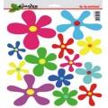 SAMOLEPÍCÍ DEKORY květy-kaňky 26x36cm 1/09324