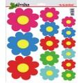 SAMOLEPÍCÍ DEKORY květy barevné 26X36cm 1/09325