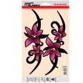 SAMOLEPÍCÍ DEKORY květiny růžové 2ks 23x9cm 1/25031