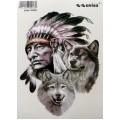 SAMOLEPÍCÍ DEKORY indian s vlky 35 x 50 cm 1/09102