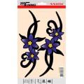 SAMOLEPÍCÍ DEKORY květiny fialové 2ks 23x9cm 1/25030