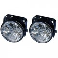 Světla pro denní svícení 2x4 LED kulaté R1-60109