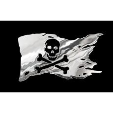 Samolepicí dekor niklovaný pirátská vlajka 1/06206