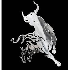 Samolepicí dekor niklovaný býk 1/06224