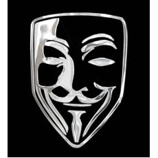 Samolepicí dekor niklovaný maska 1/06235