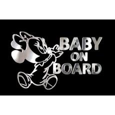 Samolepicí dekor niklovaný baby on board 1/06248