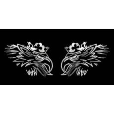 Samolepicí dekory niklované scania 2ks 1/06249