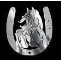 Samolepicí dekor niklovaný kůň v podkově 1/06253