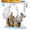 SAMOLEPÍCÍ DEKORY fish bone barevný 1/06177