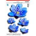 SAMOLEPÍCÍ DEKORY  modré květy 1/08258