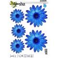 SAMOLEPÍCÍ DEKORY květy modré 1/09316