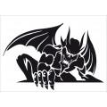 SAMOLEPÍCÍ DEKORY ďábel - netopýr malý 1/24139