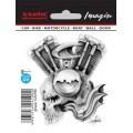 SAMOLEPÍCÍ DEKORY motor s lebkou 1/24190