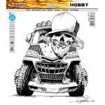 SAMOLEPÍCÍ DEKORY monster truck černobílá 1/25064