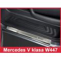 """OCHRANNÉ PRAHOVÉ LIŠTY Mercedes Benz V Class W447 2ks 2014-> """"exclusive"""" 2/13002"""