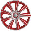 """Kryty kol 13"""" veron carbon stříbrno červený - 1ks 23136"""