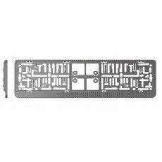 RÁMEČEK POD SPZ 3D carbon tmavě stříbrný 27045