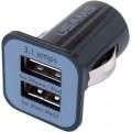 USB ADAPTÉR 12/24V černý 38-96