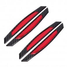 CHRÁNIČE HRAN DVEŘÍ carbon černý s červenou odrazkou 63-65
