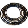 SAMOLEPÍCÍ ozdobná lišta nasunovací 3m 8x6mm černo-zlatá 64-20