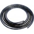 SAMOLEPÍCÍ ozdobná lišta nasunovací 3m 8/6mm černá+stříbrná linka 64-26