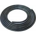 SAMOLEPÍCÍ ozdobná lišta nasunovací 3m 8x6mm stříbrné kostky 64-30