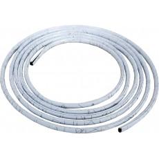 SAMOLEPÍCÍ LIŠTA nasunovací 3m 8/6mm bílá+stříbrná linka 64-46