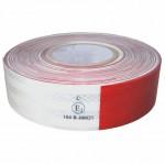 FOLIE REFLEXNÍ červeno bílá 50mmx45,7m 67-31