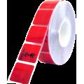 Folie reflexní 50m dělená červená 67-34