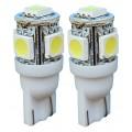 ŽÁROVKY LED T10W2,1x9,5D modré 12V 70-42