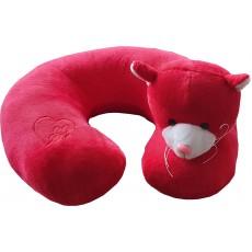 Cestovní polštářek kočka červená 90-41