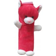 Potah bezpečnostního pásu kočka červeno-bílá 92-18