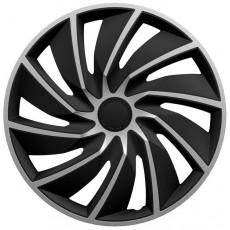 """KRYTY KOL POKLICE 16"""" turbo stříbrno černé ***27340**** KPL - 4 KS"""